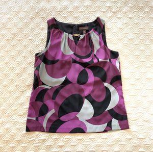 Dana Buchman Size M multicolored sleeveless dress blouse. Pre-owned. for Sale in Arlington, VA