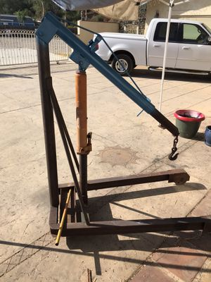 Motor hoist and motor stands for Sale in Lakeside, CA