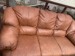 Free couch and love seat. Pick up browns mills NJ for Sale in Browns Mills, NJ