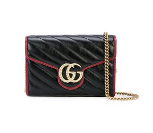 Gucci GG Marmont Mini Chain Bag in Black and Red (Brand New) for Sale in Los Angeles, CA
