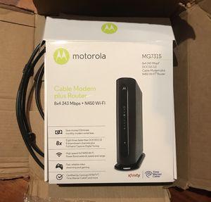 Cable Modem plus Router for Sale in Naperville, IL