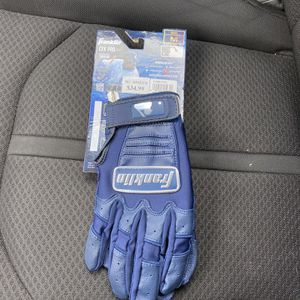 FRANKLIN CHROME SERIES NAVY BLUE BATTING GLOVES ADULT MEDIUM for Sale in San Diego, CA