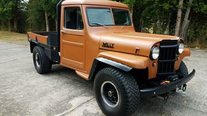 Frame up custom no rust rhino'd 1954 willy's 4x4 truck for Sale in Chehalis, WA