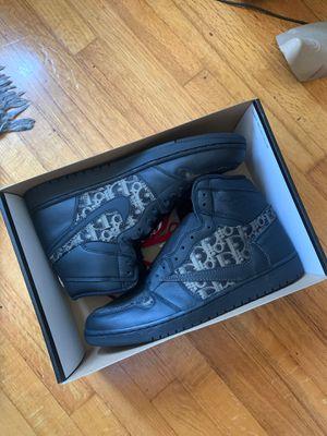 Dior x Jordan 1 TS Custom (sample) - Black dior / mens size 12 for Sale in Los Angeles, CA