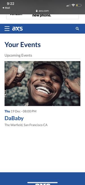 DaBaby Tickets for Sale in Fresno, CA