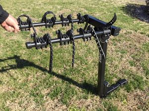 Thule 4 bike carrier. Heavy duty construction. Fold down option. Requires 2 inch receiver. Great for highway travel.. for Sale in Suffolk, VA