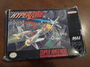SNES Super Nintendo Hyperzone complete for Sale in Murray, UT