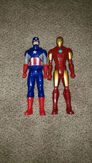 "Captain America Iron Man Larger 12"" action figures Like New for Sale in Omaha, NE"