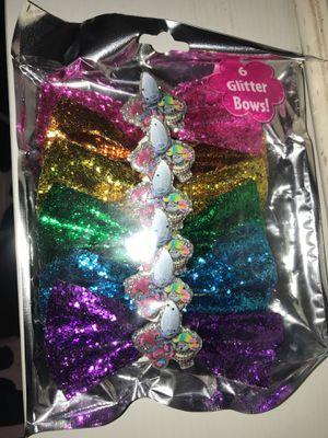 Trolls glitter Bows for Sale in San Jacinto, CA