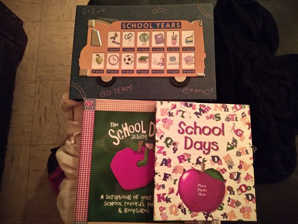 Scrapbooks school years ceremic plate front and back