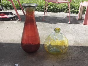 GLASS VASE SET OF 2 for Sale in Miami, FL