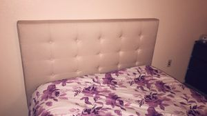 Beige Queen bed frame for Sale in Yuma, AZ
