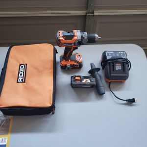 RIDGID 18-Volt Lithium-Ion Cordless Brushless 1/2 in. Compact Hammer Drill Kit with (2) 2.0 Ah Batteries, Charger, and Bag for Sale in Bakersfield, CA