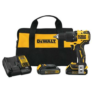 DEWALT ATOMIC 20-VOLT MAX LITHIUM-ION CORDLESS BRUSHLESS 1/2 IN. COMPACT HAMMER DRILL KIT for Sale in Berwyn, IL