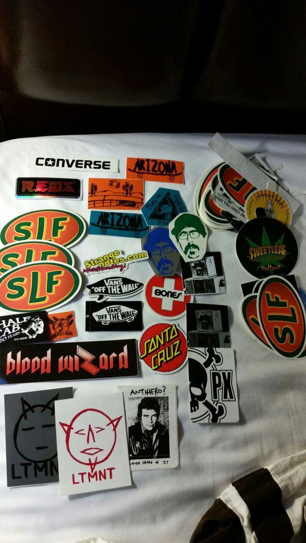 Skateboard skate stickers decals vintage old