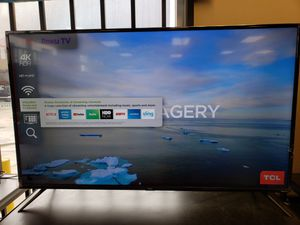 """TCL 55"""" smart 4k TV with Roku 55s425 for Sale in Fontana, CA"""