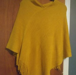 Mustard yellow sweater poncho for Sale in Philadelphia, PA