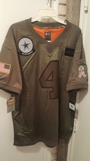 Dallas Cowboys NIKE SALUTE TO SERVICE MILITARY PRESCOTT JERSEYS SIZES LARGE XL 2XL AVAILABLE for Sale in Grand Prairie, TX