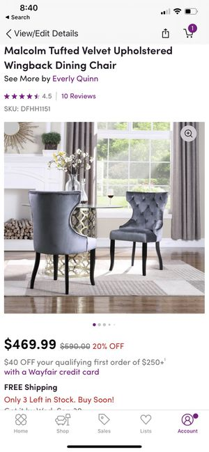 4 Brand New Gray Dining/Accent Chairs for Sale in Upper Marlboro, MD