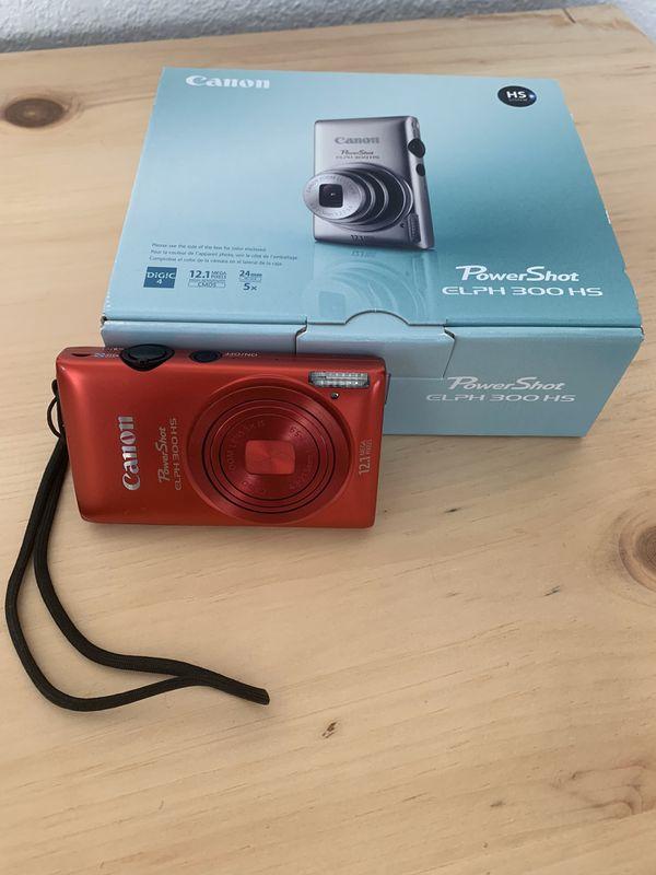 Canon PowerShot ELPH 300 HS 12.1 MP Digital Camera (Red)