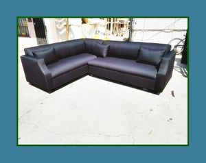 """new 7x9 ft """"Domino black"""" sectional couches for Sale in Los Angeles, CA"""