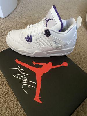 J 4 Purple Metallic Size 9 Men for Sale in Los Angeles, CA