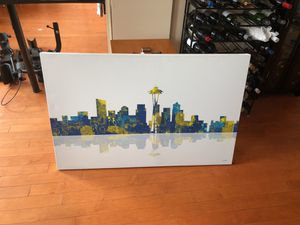 Painting of Seattle city scape for Sale in Boston, MA