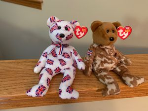 """British Beanie Babies in PERFECT condition. """"Hero and Jack"""" for Sale in Wichita, KS"""