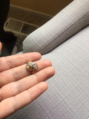 10K solid yellow gold diamond ring size 8 for Sale in Mountlake Terrace, WA