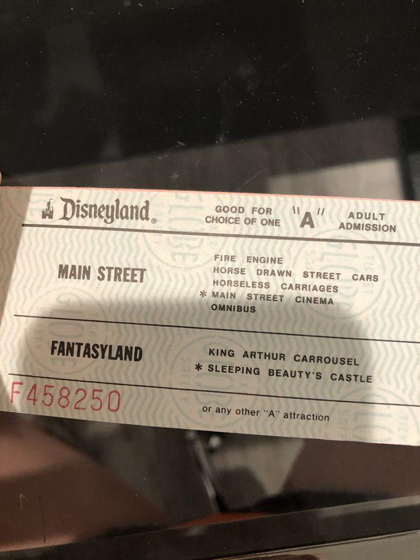 Disneyland Vintage miscellaneous tickets