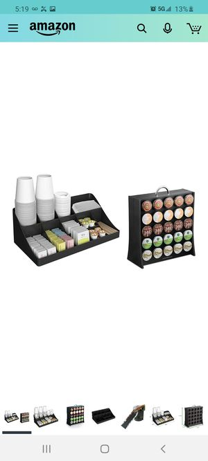 Mind Reader COMORGRAC-BLK 11 Compartment Condiment 50 Capacity K-Cup Single Serve Coffee Pod Holder Storage Organizer, Black, One Size for Sale in City of Industry, CA