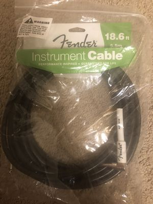 Fender Performance Series Instrument Cables (Straight-Right Angle) for electric guitar, bass guitar, electric mandolin, pro audio for Sale in Frederick, MD
