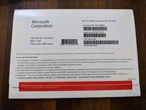Microsoft Windows 10 Pro 64-bit DVD OEM package for Sale in San Jose, CA