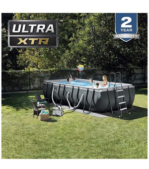 Intex 18ft x 9ft x 52in Ultra XTR Above ground Swimming Pool for Sale in Sugar Land, TX