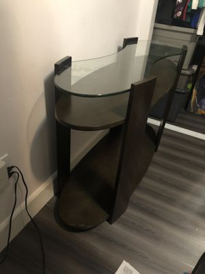 3 tier console table with glass top for Sale in Long Beach, CA