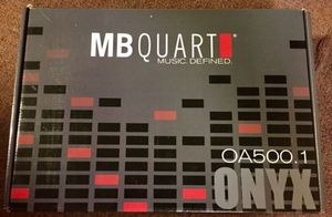 MB Quart single channel Class D dedicated subwoofer amplifier. Stable down to 1 ohm. 4 ohm - 500 watts RMS/ 1000 peak; 2-ohm - 1000 watts RMS/ 2000 for Sale in Linthicum Heights, MD