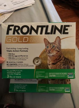 Frontline gold for cats 12 months supply for Sale in Chillum, MD