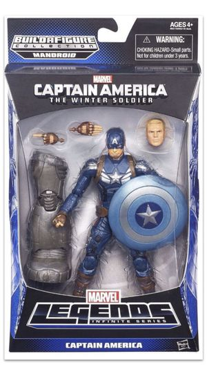 "Marvel Legends Mandroid BAF. Captain America ""movie outfit "" for Sale in Woodbridge, VA"
