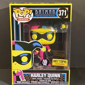 💥 Funko POP! Batman Animated Harley Quinn #371 Black Light Hot Topic Exclusive for Sale in Boca Raton, FL