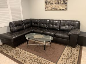Brown Leather Sectional for Sale in Hayward, CA