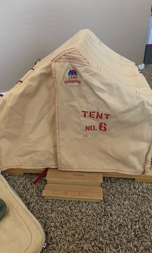 American girl camp Gowonagin tent with sleeping bag for Sale in Queen Creek, AZ