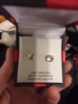 White Sapphire Earrings for Sale in Millersville, MD