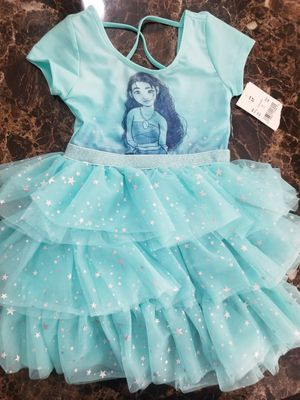 New Girls Moana Dress leotard bodysuit 3T for Sale in Bloomfield, NJ