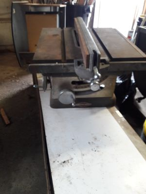 Table saw cast iron Craftsman extra blades for Sale in Roselle, IL