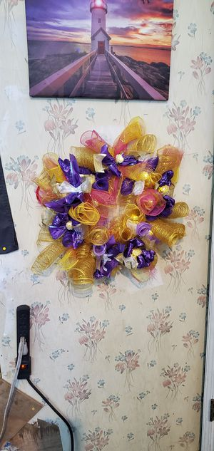 Mesh wreath for Sale in Dry Prong, LA