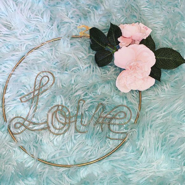 Fake Plant Love Sign