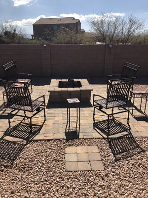 Metal Outdoor Chair Set for Sale in Sahuarita, AZ