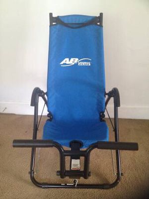 AB Lounge PLUS Abdominal Core Exerciser Blue Fitness Quest Machine for Sale in Woburn, MA