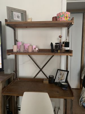 Bookcase with built in desk for Sale in Queens, NY