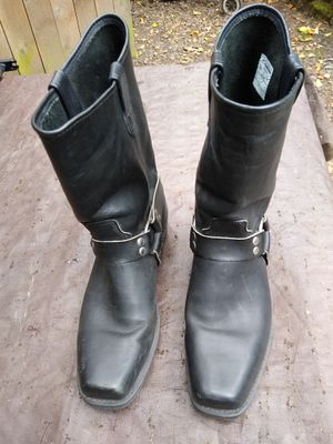 Men's black Motorcycle - Work Boots - Double H Size 12 Exc Cond for Sale in Portland, OR